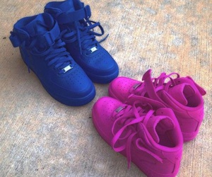 blue, shoes, and nike image