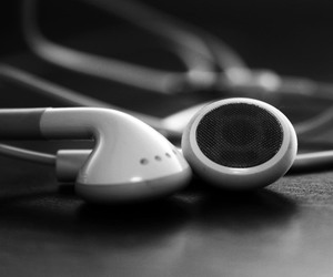 music, black, and headphones image