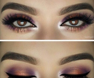 eyes, makeup, and purple image
