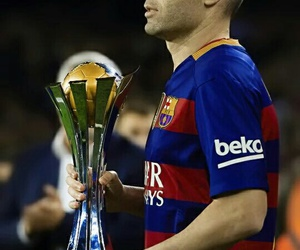 iniesta, Barca, and fcb image