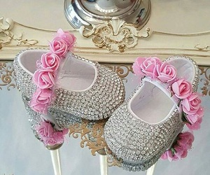 baby shoes, pink, and shoes image