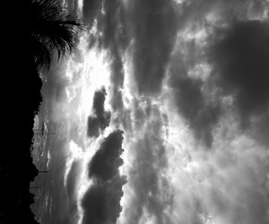 black, whit, and clouds image