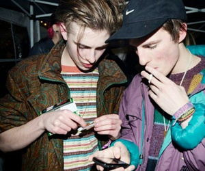 boy, swim deep, and cigarette image