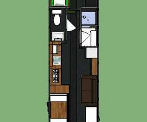 bus, house, and create image