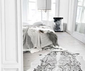 bedroom, white, and white bedroom image