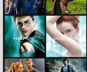 harry potter, divergente, and magie image