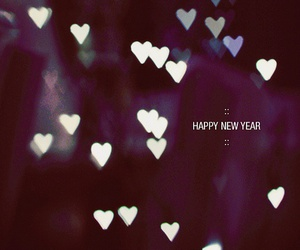 new year, happy new year, and hearts image