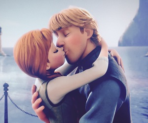 frozen, anna, and kiss image