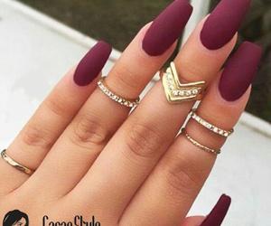 fashion, jewerly, and long nails image