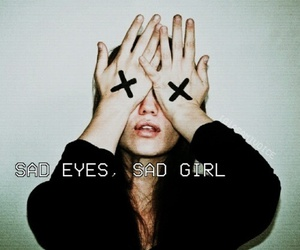 sad, eyes, and grunge image