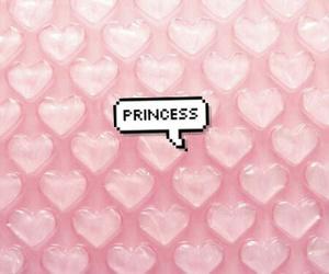 pink, princess, and heart image