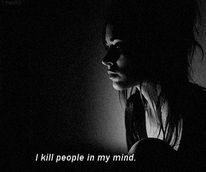kill, black and white, and people image