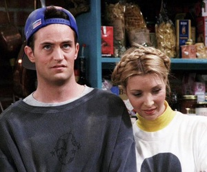 friends, chandler, and phoebe image