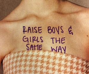 girl, boy, and equality image