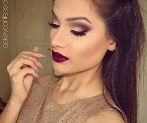 makeup and lipstick image