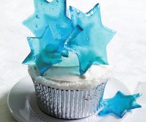 blue, cupcake, and cake image