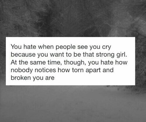 quote, sad, and strong image