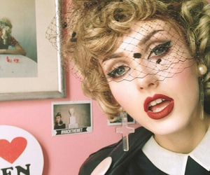 50's, beauty, and makeup image