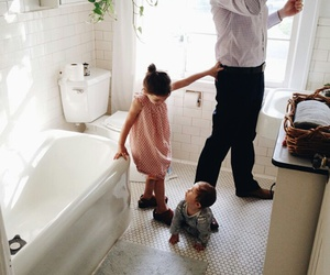 baby, bathroom, and motherhood image