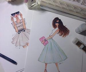 drawing, fashion, and illustration image