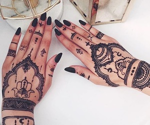 henna, blackhenna, and tattoo image
