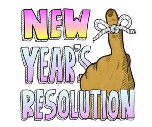 new year, quotes, and resolution image