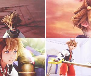 kingdom hearts, sora, and video game image
