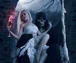girl, death, and fantasy image