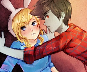 adventure time, marshall lee, and fiona image