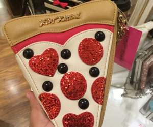 betsey johnson, red, and glitter image