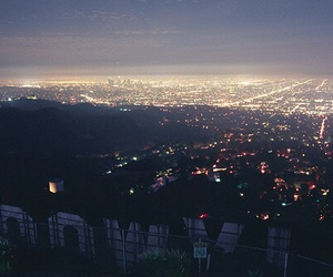 hollywood, city, and light image