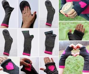 diy, gloves, and socks image