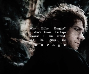 courage, the lord of the rings, and the hobbits image