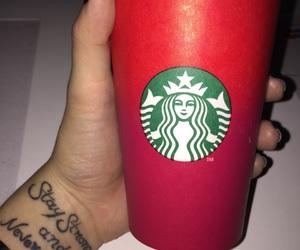 christmas, red, and coffee image