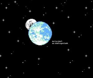 stars, grunge, and pixel image