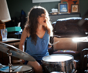 girl, drums, and music image