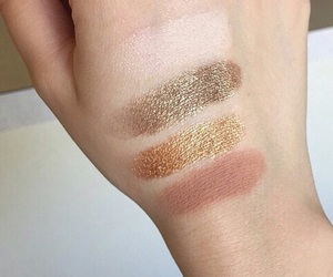 brown, eyeshadow, and gold image