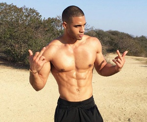 abs and man image