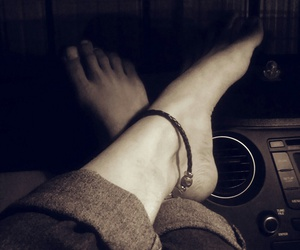 car, legs, and night image