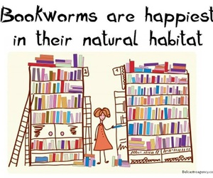 book, bookworm, and quote image