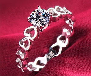 heart, beauty, and diamond image