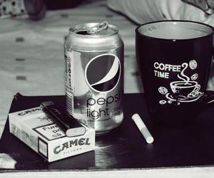 coffee, cigarette, and Pepsi image
