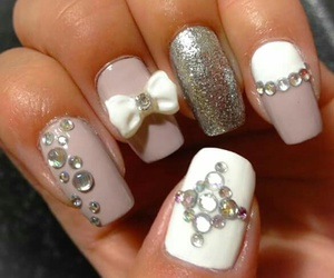 beige, white, and nails image