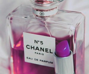 chanel, perfume, and lipstick image
