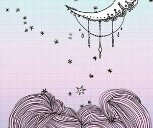 wallpaper, moon, and pink image