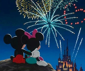 disney, mickey, and couple image