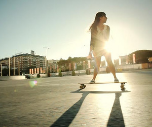 girl and longboard image