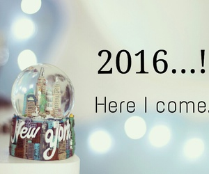 new year, wishes, and 2016 image