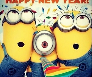 minions and new year image