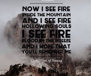 i see fire, ed sheeran, and the hobbit image